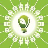 Bulb light - green energy