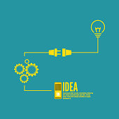 Bulb light idea with switch and gears