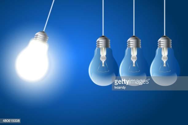 Bulb newton cradle