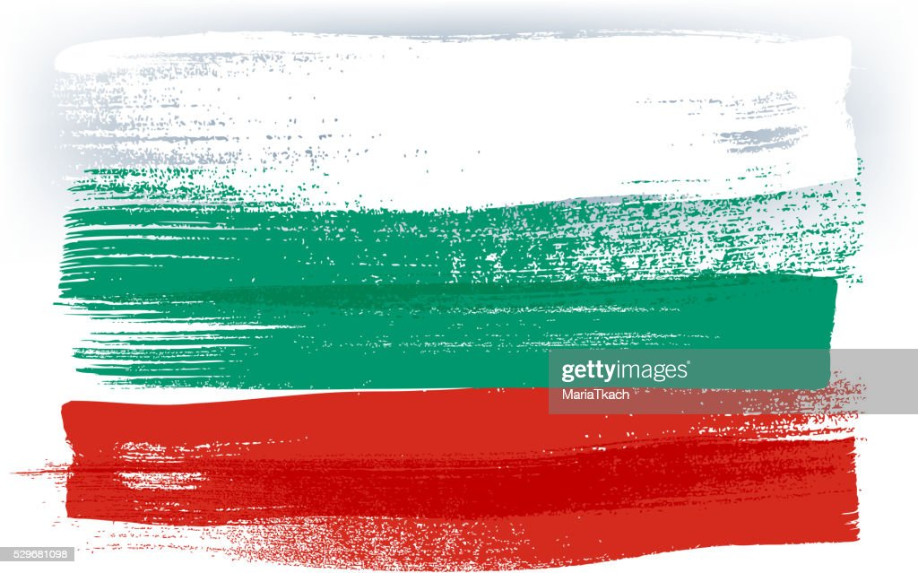 Bulgaria colorful brush strokes painted flag