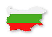 Bulgaria - Contour Country Flag Vector Flat Icon