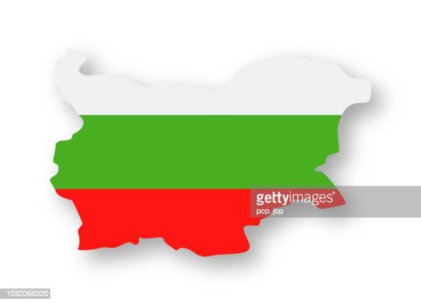ブルガリア - フラット輪郭の国の旗のアイコンをベクトル - ブルガリア点のイラスト素材/クリップアート素材/マンガ素材/アイコン素材