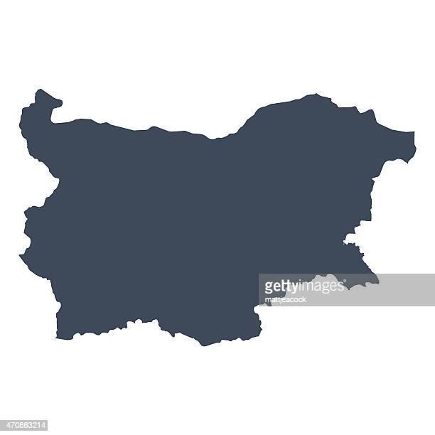 illustrazioni stock, clip art, cartoni animati e icone di tendenza di bulgaria paese mappa - bulgaria
