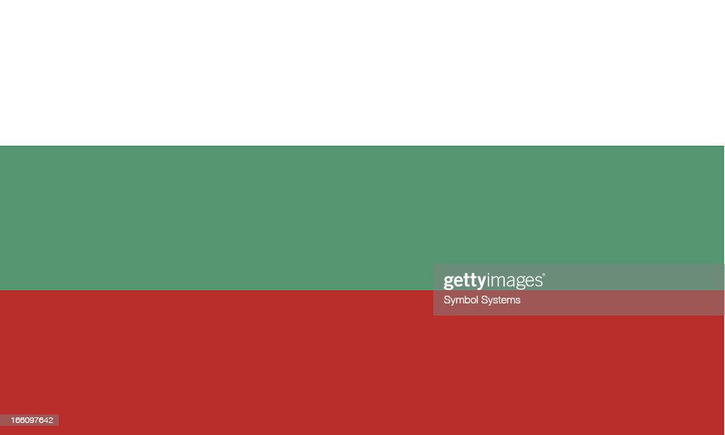 Bulgaria flag background with white green and red stripes