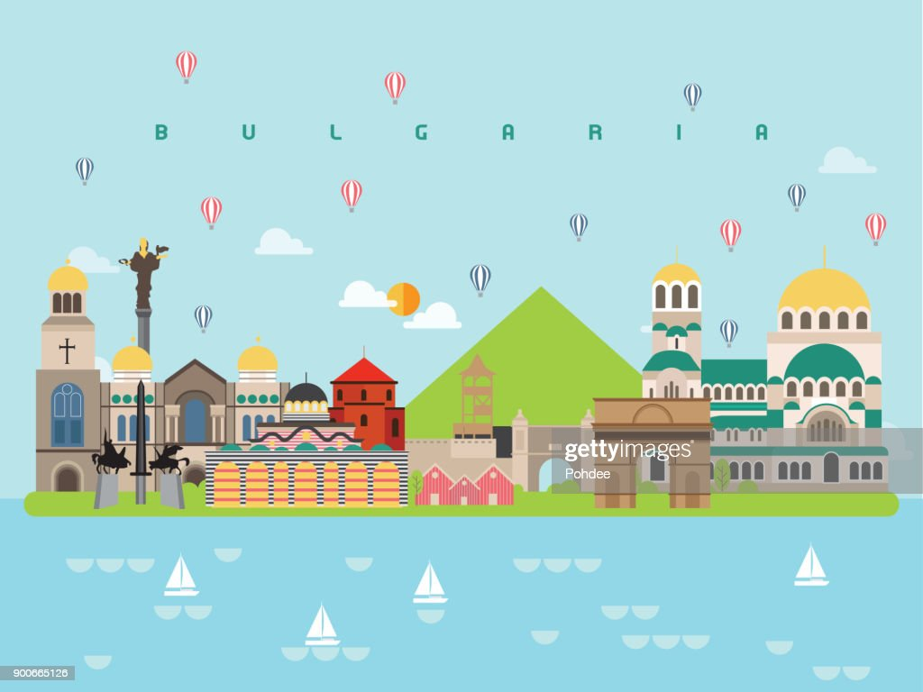 Bulgaria Landmarks Travel and Journey Vector