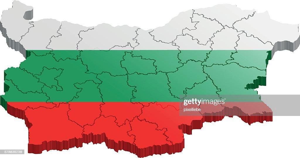 Bulgaria map 3d