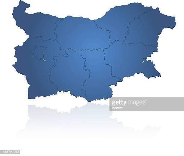 ブルガリアマップブルーレイ - ブルガリア点のイラスト素材/クリップアート素材/マンガ素材/アイコン素材