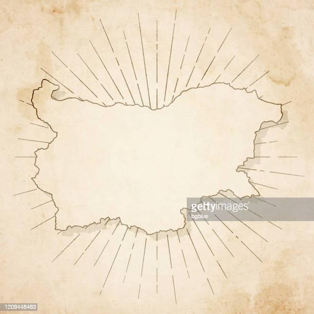 レトロなヴィンテージスタイルでブルガリアの地図 - 古いテクスチャペーパー - ブルガリア点のイラスト素材/クリップアート素材/マンガ素材/アイコン素材