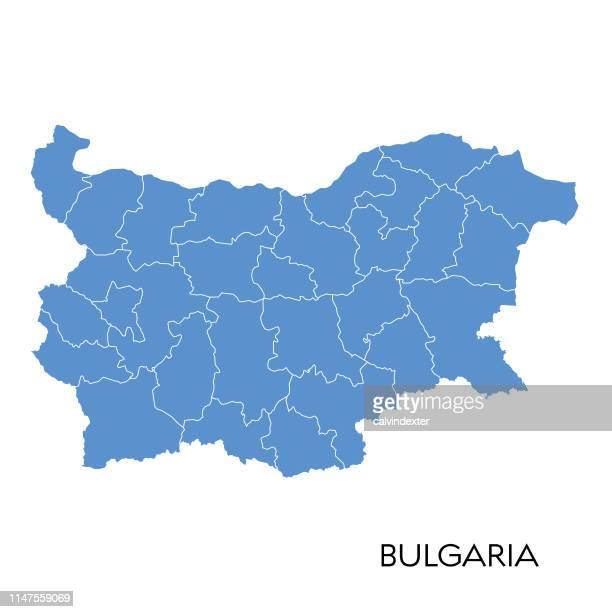 bulgaria map - bulgaria stock illustrations