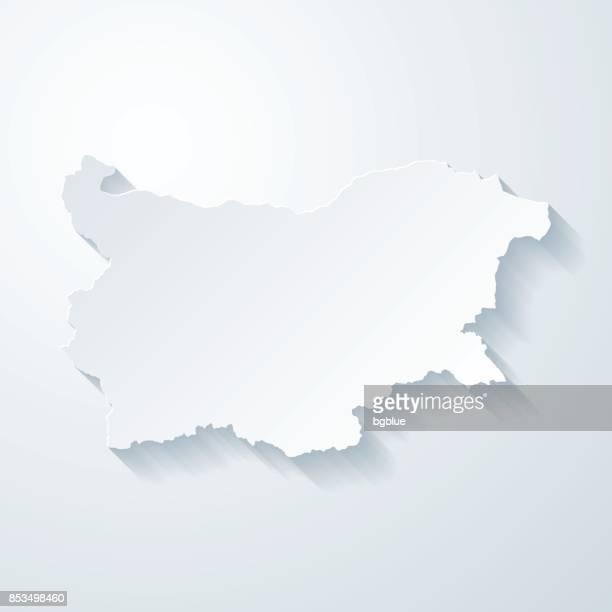 紙でブルガリア地図カット空白の背景の効果 - ブルガリア点のイラスト素材/クリップアート素材/マンガ素材/アイコン素材