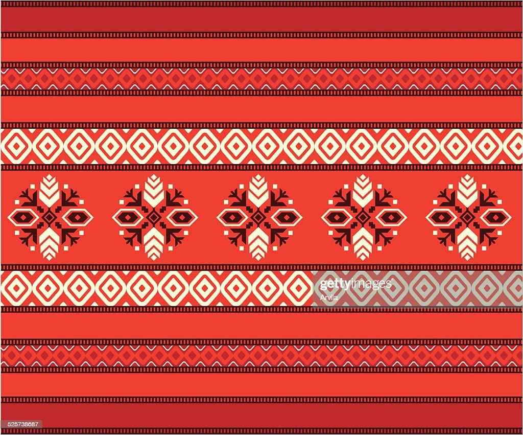 Bulgarian seamless decorative traditional national design pattern