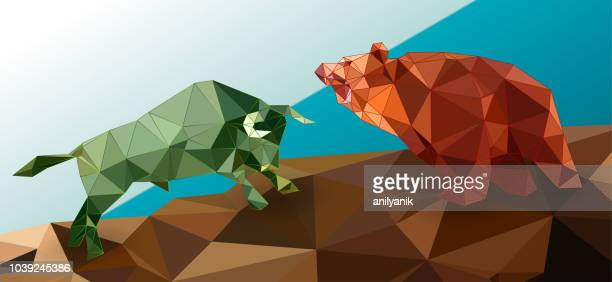 bull and bear - stock exchange stock-grafiken, -clipart, -cartoons und -symbole