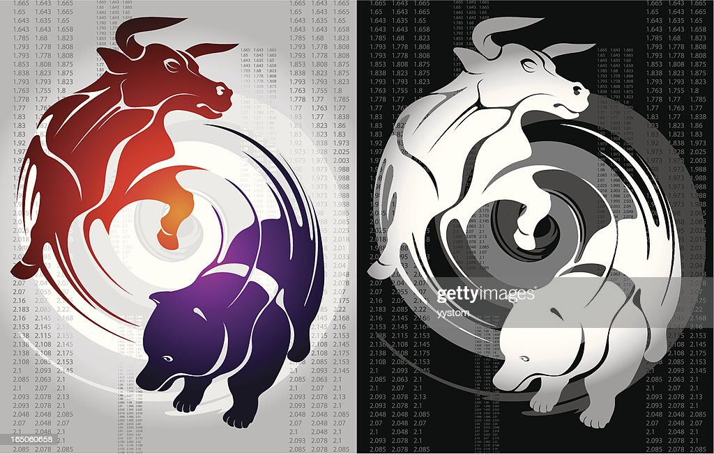 Bull And Bear Vector Art Getty Images