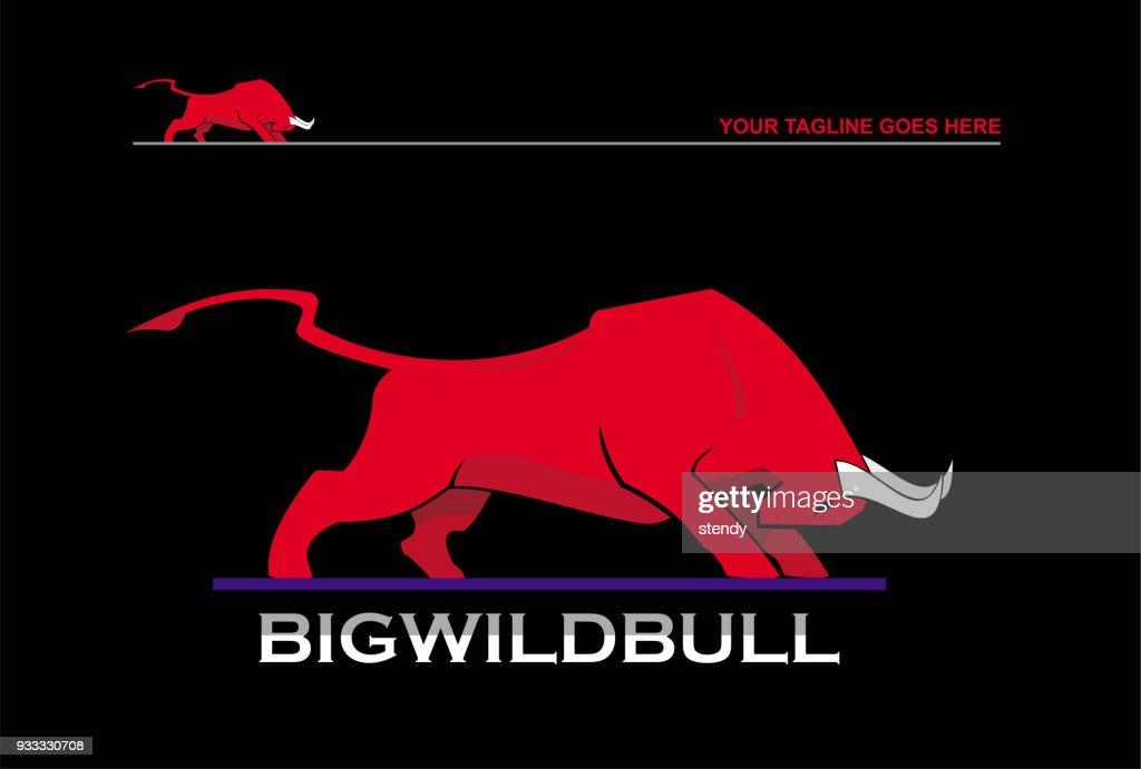 bull, attacking bull, big wild red bull