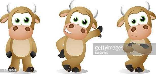 bull baby poses - calf stock illustrations, clip art, cartoons, & icons