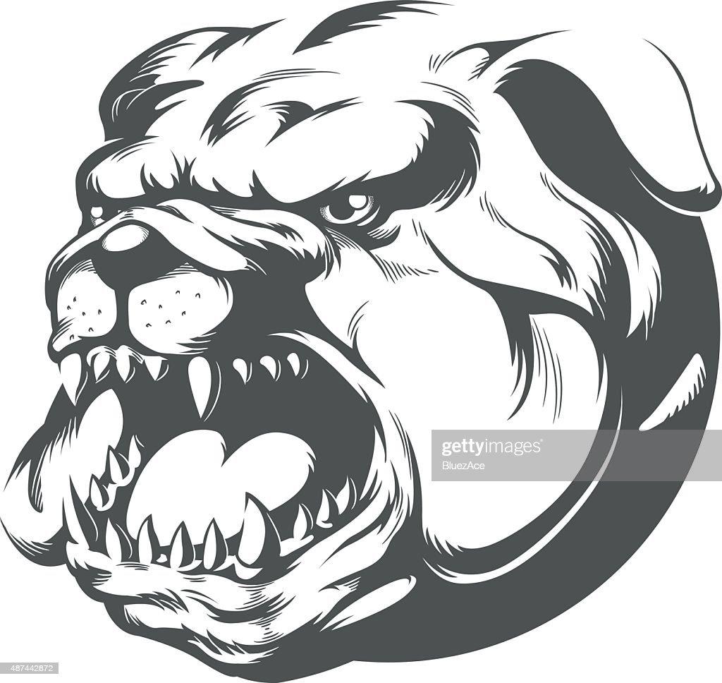 Bull Dog Vector Silhouette