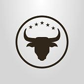 bull icon in a circular frame