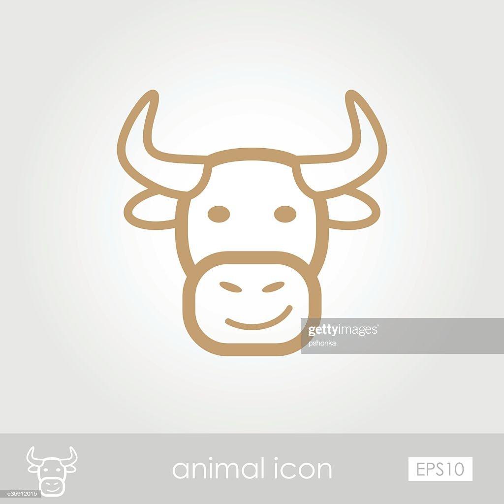 Bull icon : Vector Art