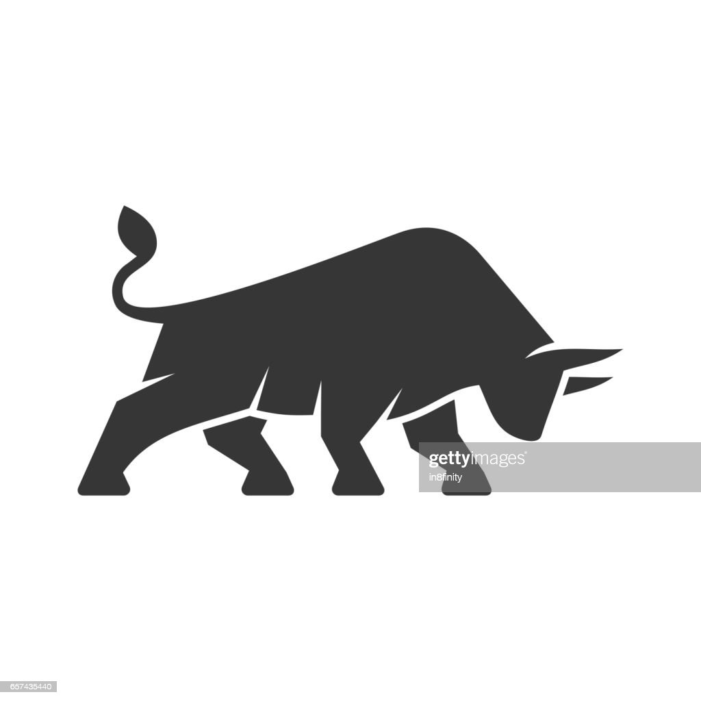 Bull Logo. Business Icon on a White Background