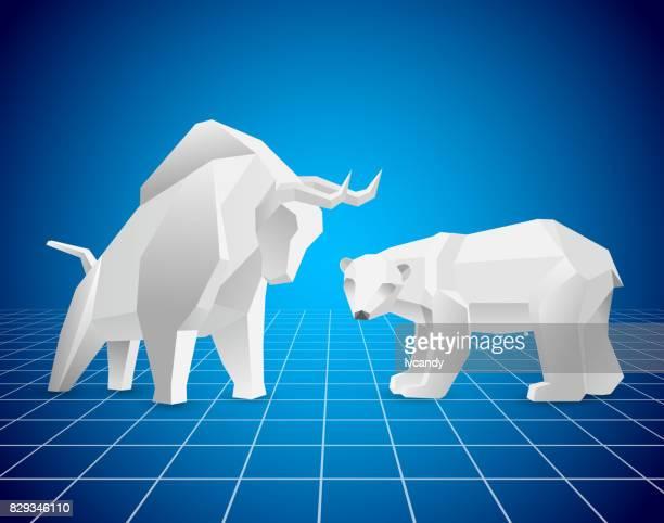 bull market und bear market - börse stock-grafiken, -clipart, -cartoons und -symbole