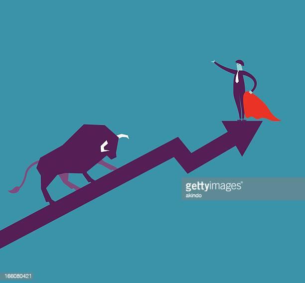 bull market - bullfighter stock illustrations, clip art, cartoons, & icons