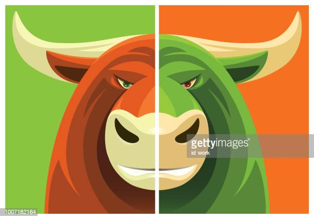 bull mascot - bull market stock illustrations, clip art, cartoons, & icons