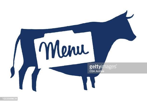 牛のメニュー - 牛肉点のイラスト素材/クリップアート素材/マンガ素材/アイコン素材