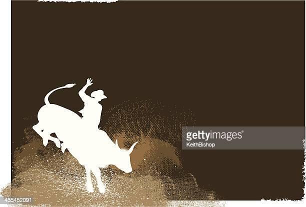 ilustrações de stock, clip art, desenhos animados e ícones de bull rider-rodeo cowboy de fundo - rodeio