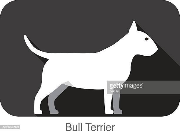 Bull Terrier perro breed icono de diseño plano