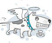 Bull terrier guardian angel