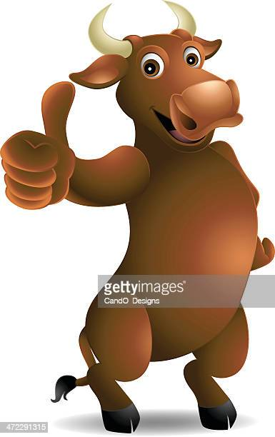 bull: thumbs up! - african buffalo stock illustrations, clip art, cartoons, & icons