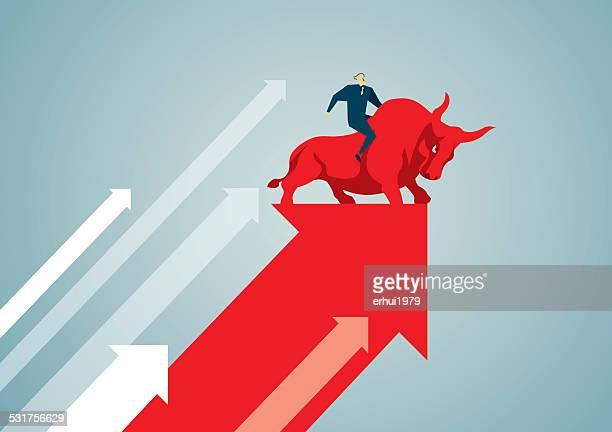 bull - börse stock-grafiken, -clipart, -cartoons und -symbole