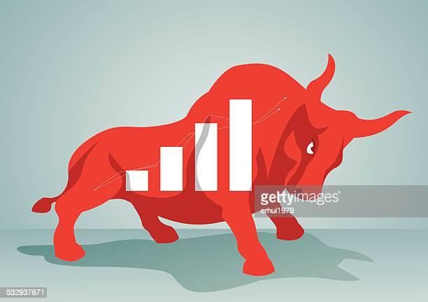 bull - bull market stock illustrations, clip art, cartoons, & icons