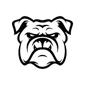Bulldog animal head mascot sport vector illustration