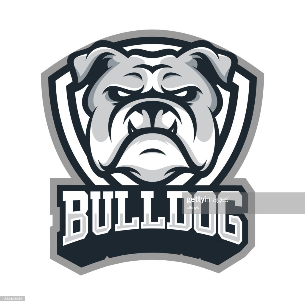 Bulldog animal head mascot sport vector illustration