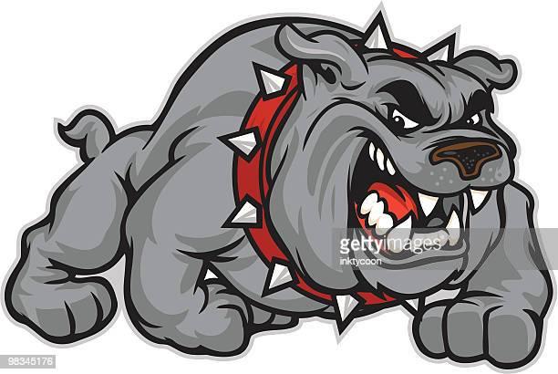 bulldog classic - aggression stock illustrations