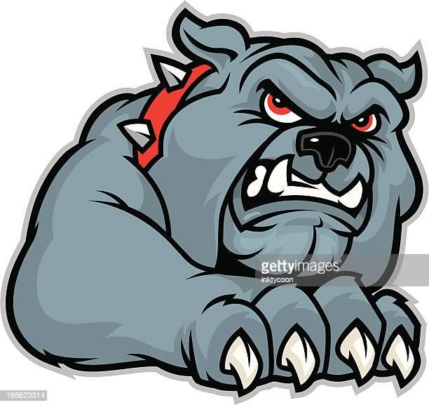 bulldog claw - cruel stock illustrations