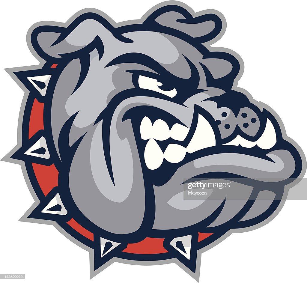 Bulldog Mascot Head