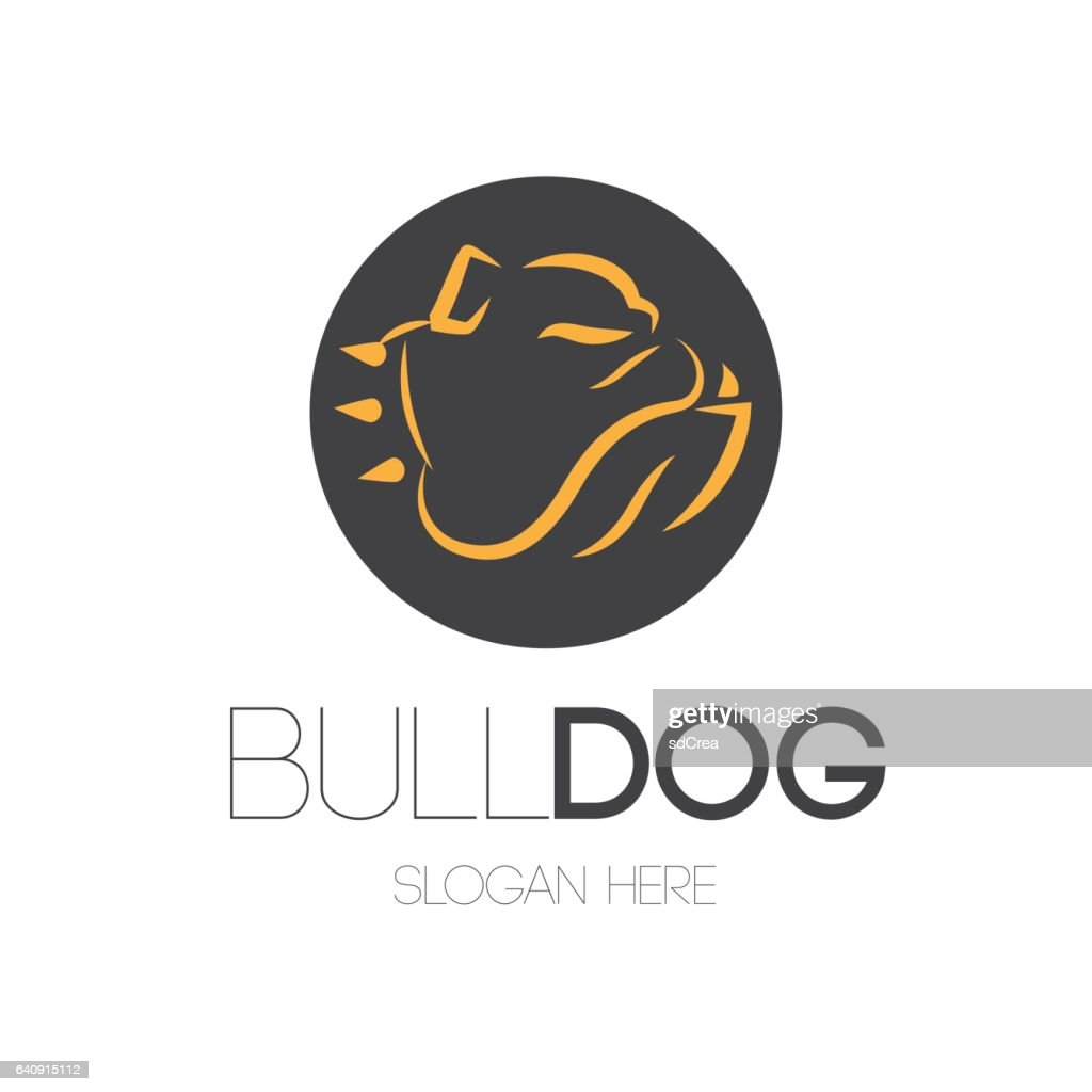 Bulldog Portrait Mascot Design
