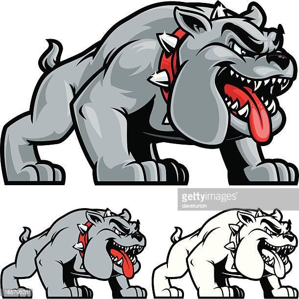 bulldog stance ii - mascot stock illustrations