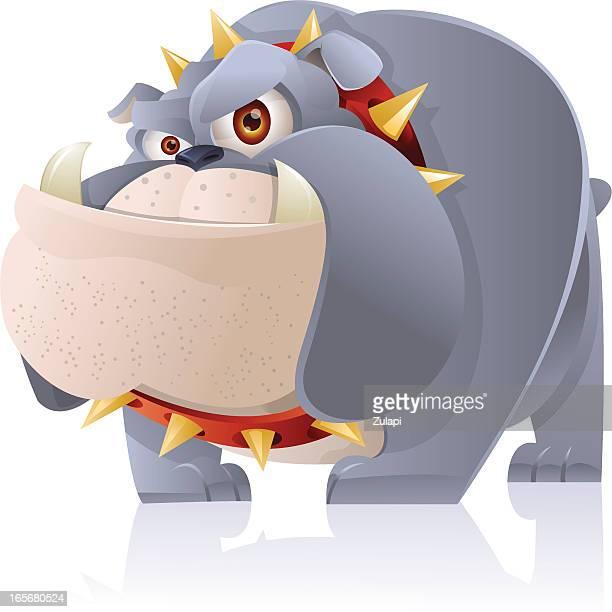 bulldog - cartoon characters with big teeth stock illustrations