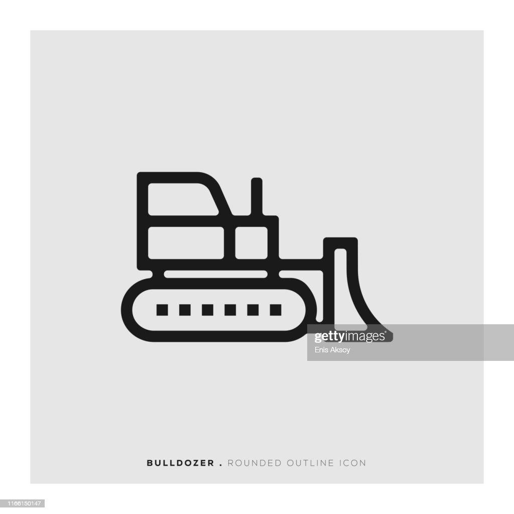 Bulldozer Icon : stock illustration