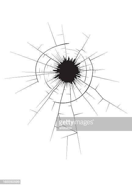 bullet hole - bullet hole stock illustrations