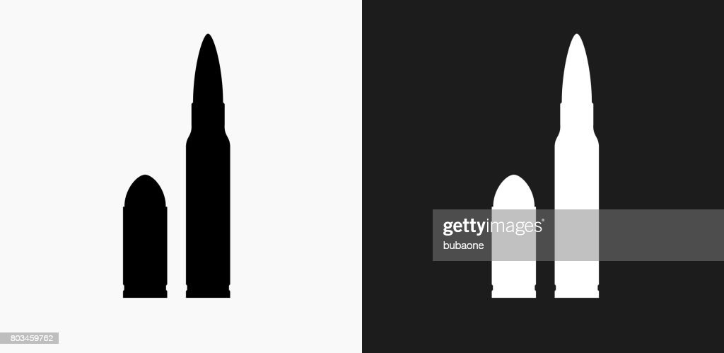 Bullet Icon on Black and White Vector Backgrounds