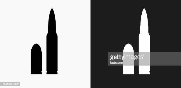 bullet icon on black and white vector backgrounds - bullet stock illustrations