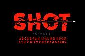 Bullet shot font