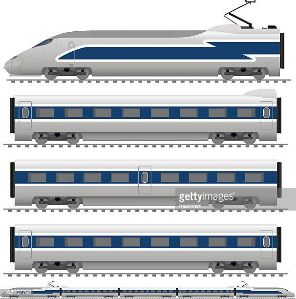 bullet train - carriage stock illustrations