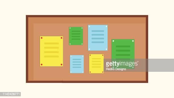 bulletin board icon - bulletin board stock illustrations