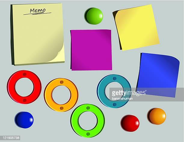 bulletin board - magnet stock illustrations, clip art, cartoons, & icons