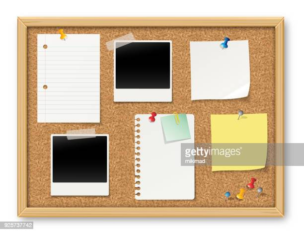 bulletin board - push pin stock illustrations